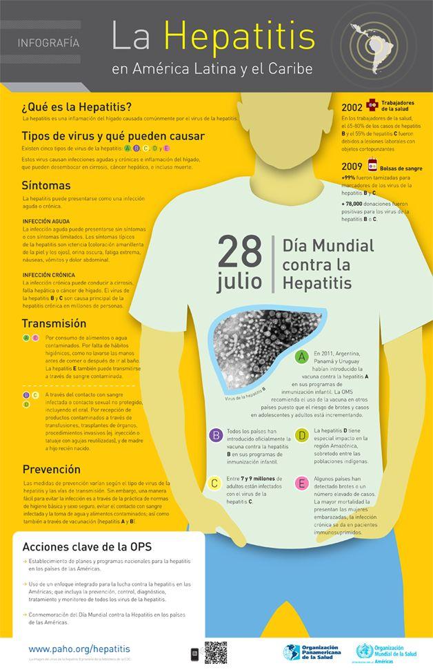 Infografía: Hepatitis en Latinoamérica y el Caribe #infografia #salud…
