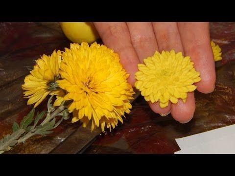 Видеоурок: мелкоцветная хризантема из холодного фарфора за 5 минут - Ярмарка Мастеров - ручная работа, handmade