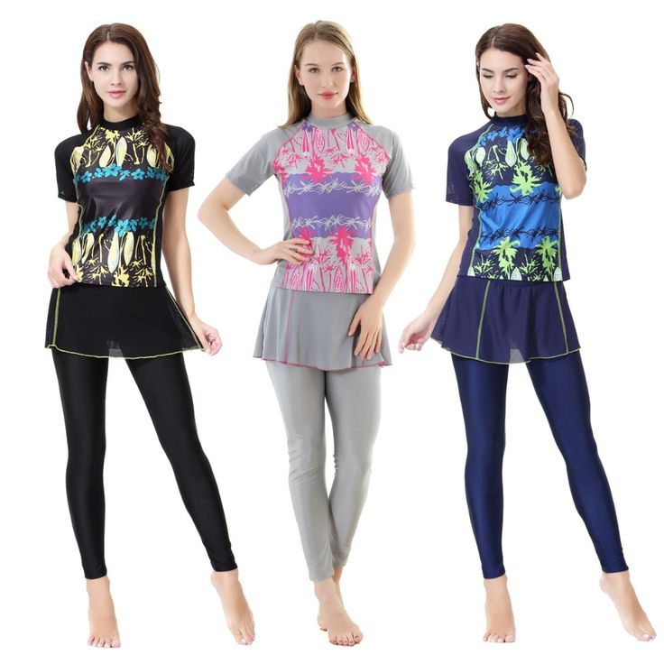 High Quality Muslim Swimwears for Women Female Swimsuit Bathing Suit Modest Full Cover Hijab Burkinis for Muslim Girls-in Muslim Swimwear from Sports & Entertainment on Aliexpress.com | Alibaba Group