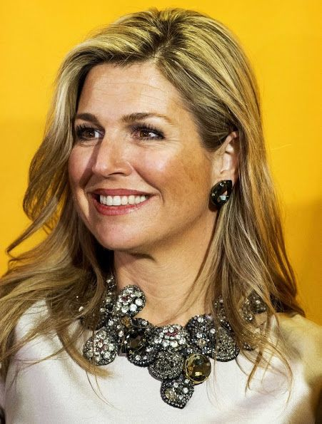 Queen Maxima of the Netherlands businesswoman Vivienne Eijkelenborg and Dutch politician Annemarie Jorritsma attend the 35th edition of the Prix Veuve Clicquot Businesswoman of the Year ceremony at the Grand Hotel Huis ter Duin on March 21, 2016 in Noordwijk.