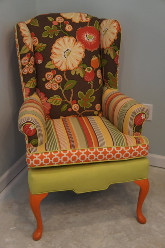 17 best images about fun chairs on pinterest armchairs for Funky fabric dining chairs