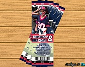 Houston Texans Football Ticket (Any Team) - Custom You Print Digital Ticket Invitation - Birthday Party