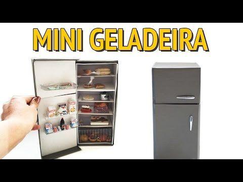 Como Fazer uma Geladeira para Barbie e outras Bonecas com Caixa de Sapato! - YouTube