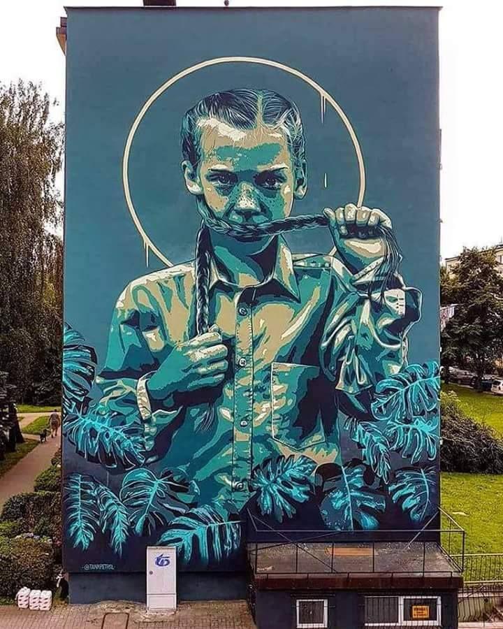 Slupsk, Poland: new piece by TankPetrol.