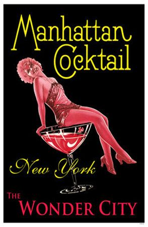 Manhattan Cocktail pin-up girl