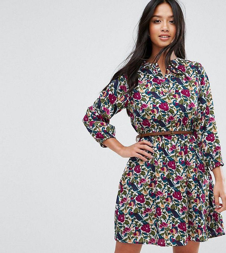 Yumi Petite Belted Tunic Dress - Multi