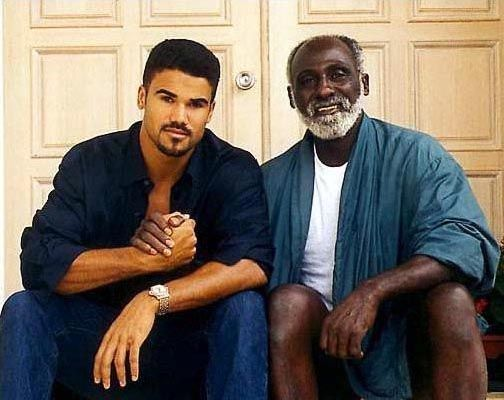 Shemar Moore and his father