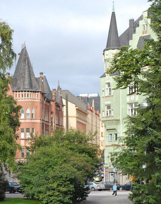 Jugend architecture in Helsinki, Finland