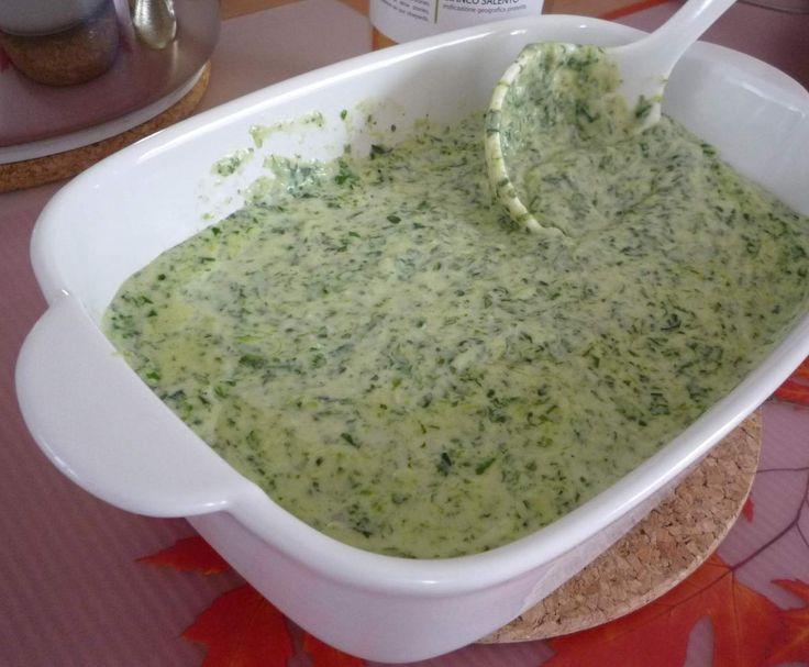 Rezept Gorgonzola-Spinat-Sauce zu Pasta oder Gnocchi von Grobilein - Rezept der Kategorie sonstige Hauptgerichte