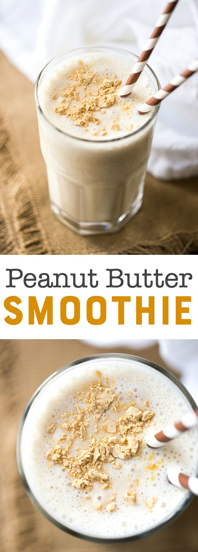 Peanut Butter smoothie recipe. | #InspirationSpotlight