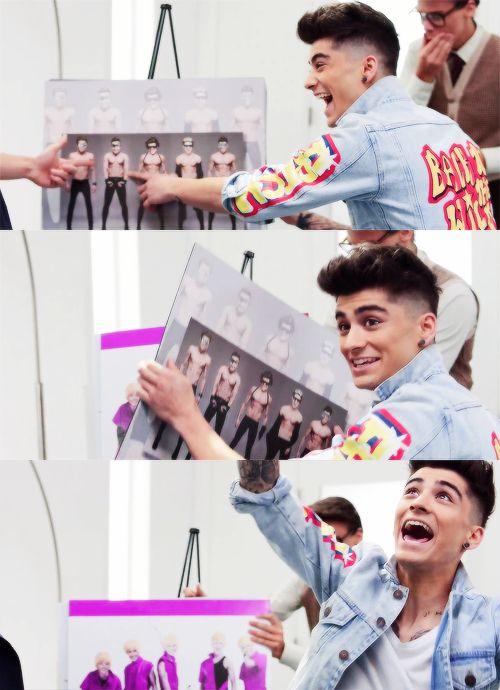 Zayn in the BSE music video