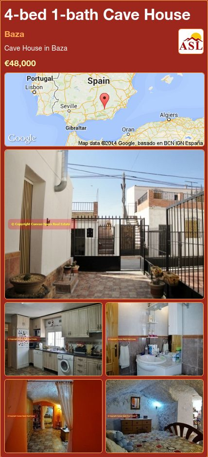 4-bed 1-bath Cave House in Baza ►€48,000 #PropertyForSaleInSpain