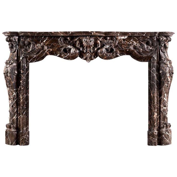 Striking Louis Xv Style Marble Fireplace