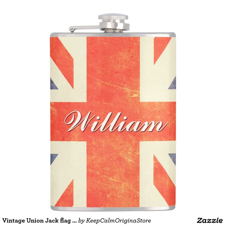 Vintage Union Jack flag personnalisme Flask #vintageunionjackflag #unionjack #england #customgift #personalizedgift #flask