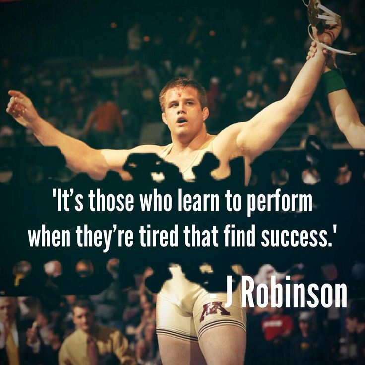 It's those that learn to perform when they're tired that find success