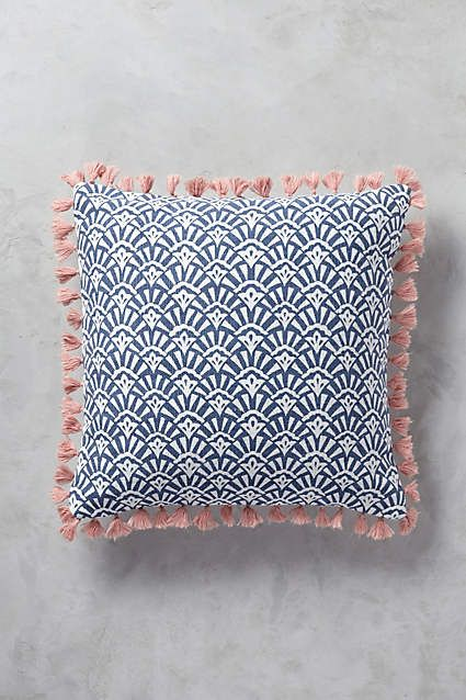 Anthropologie EU Folding Fans Cushion