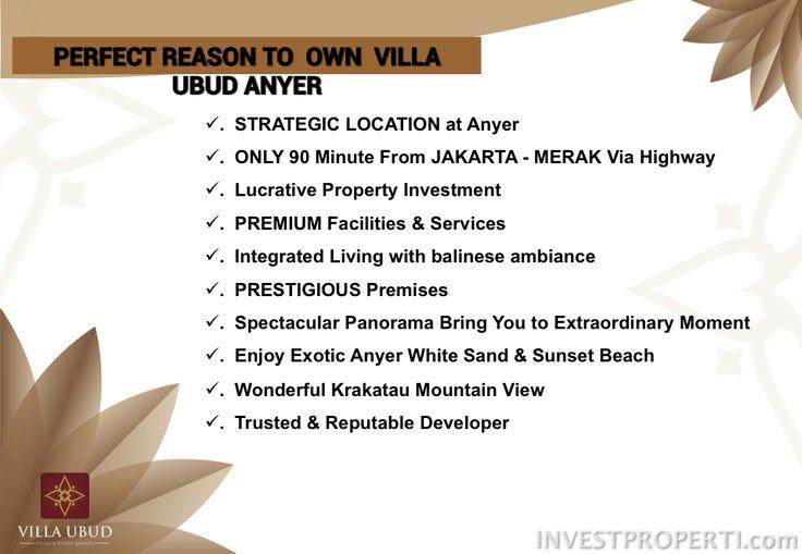 Reason to buy Villa Ubud Anyer.