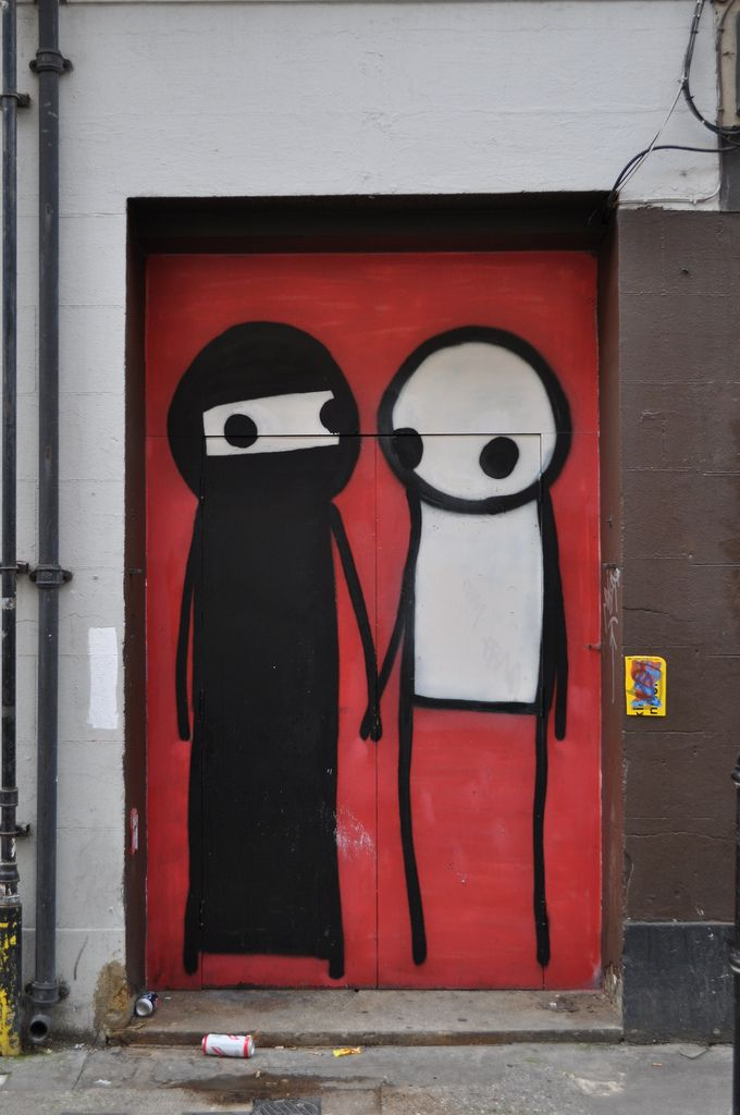 Stik has been creating Stik people around London for over ten years and anyone who has wandered around Shoreditch recently will have been greated by Stik's supersize, bright street art adorning shop shutters and walls. Stik people initally began to appear in Hackney Wick and in recent years marched westward to Shoreditch and the rest of London.