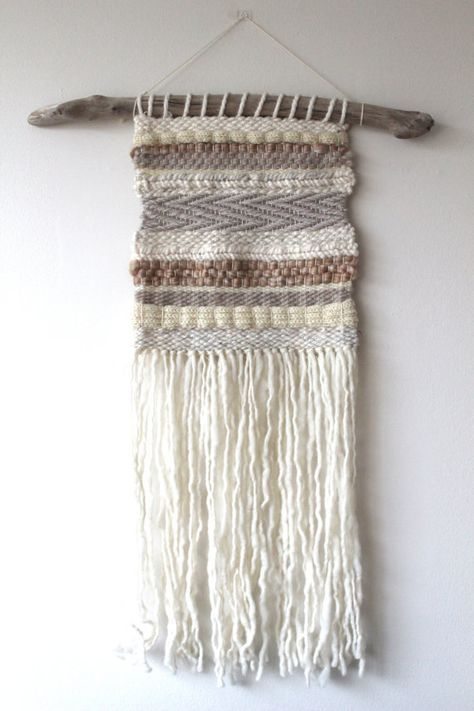 Would make a great wall accent in a kitchen or dining area. WEAVING Wall Hanging/ Woven Wall Hanging Fiber Art Wool Tapestry #lglimitlessdesign #contest