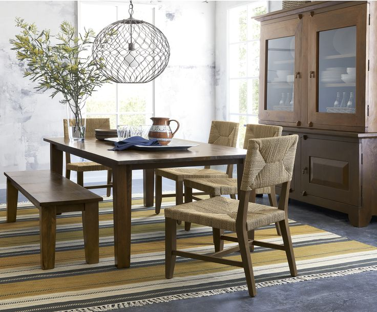 Handcrafted of sustainable solid mango wood  Basque recalls the heft and  character of a European. 153 best Dining Rooms images on Pinterest   Dining rooms  Crates