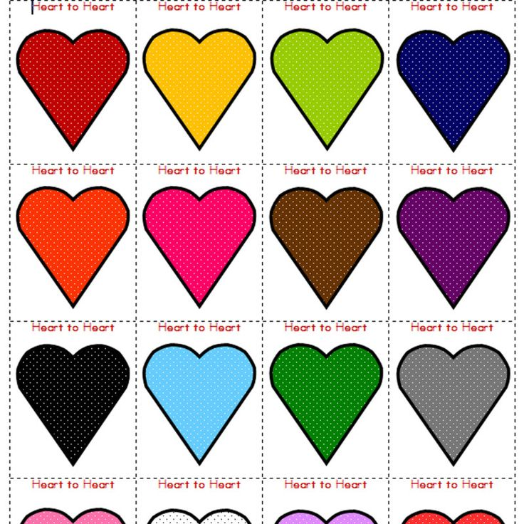 Freebie Valentine Game Heart to Heart Heart cards, Game