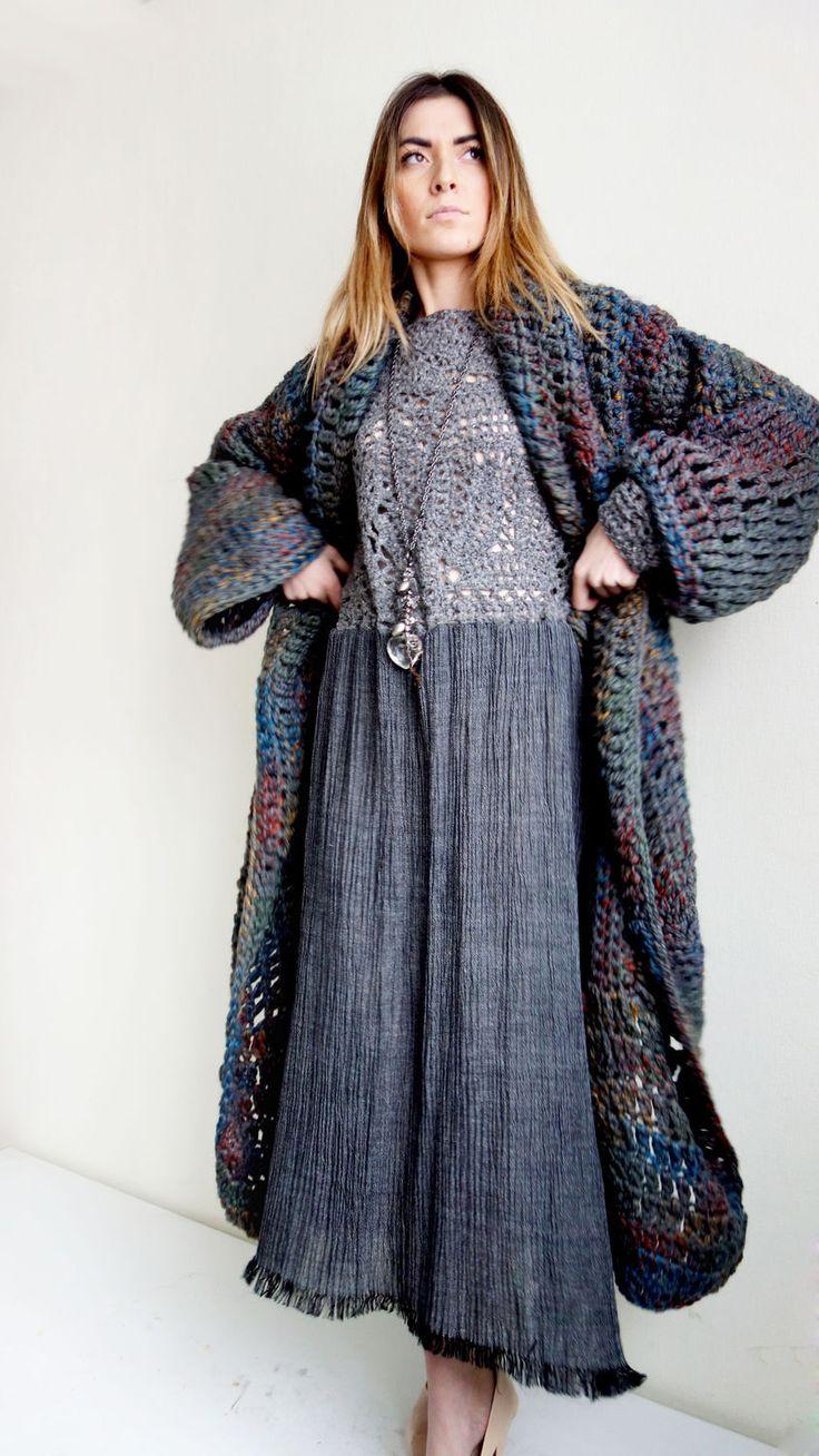 Oversize Knitted Coat | Вязаное пальто «Ася» — Купить, заказать, пальто, вязаный, вязание, шерсть, ручная работа, оверсайз