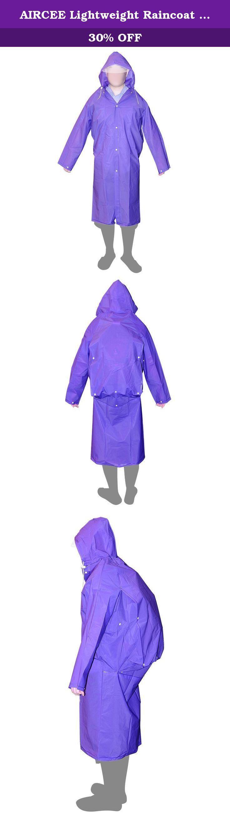 AIRCEE Lightweight Raincoat Rain Cape Poncho /w Backpack Position (Purple). AIRCEE Lightweight Raincoat Rain Cape Poncho /w Backpack Position.