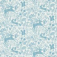 papier peint Scion Kelda animaux dans le forêt bleu