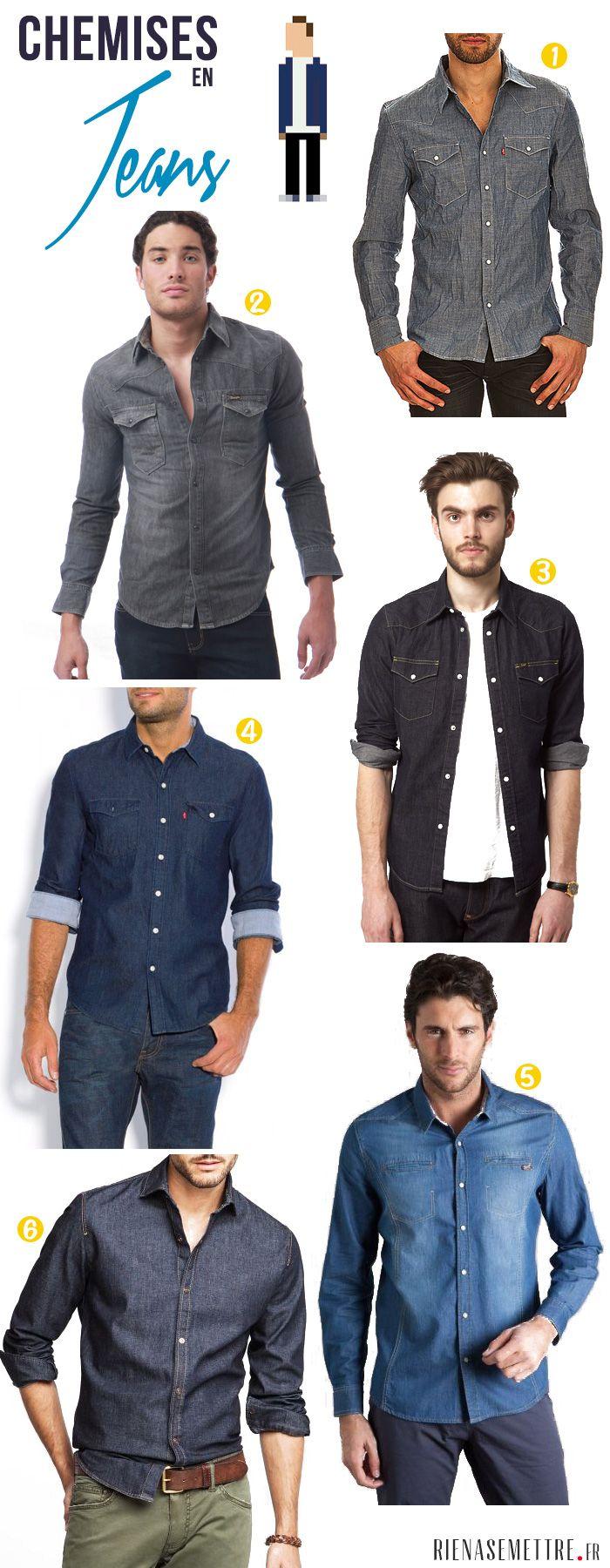 SELECTION | Quelle chemise en Jean Homme choisir ? | chemise en jeans homme | Blog mode homme | Guide Shopping mode et tendances femme hom...