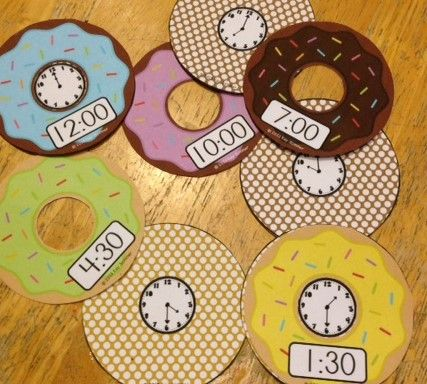 It's Doughnut Time! {Telling Time to the Hour and Half Hour} $