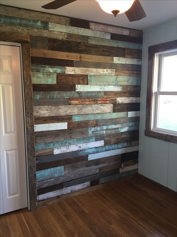 So Proud Of Our Nursery Pallet Wall Wood Wall Bathroom
