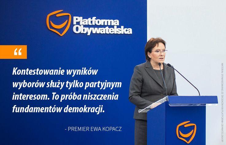 Premier Ewa Kopacz o wyborach samorządowych.