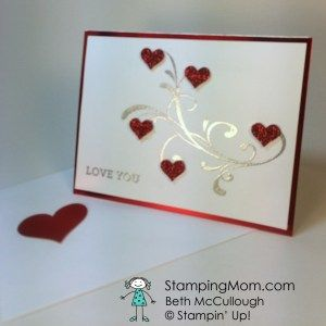 Clean and Simple Valentine, Beth McCullough www.StampingMom.com Everything Eleanor has the perfect swirl for an elegant Valentine.