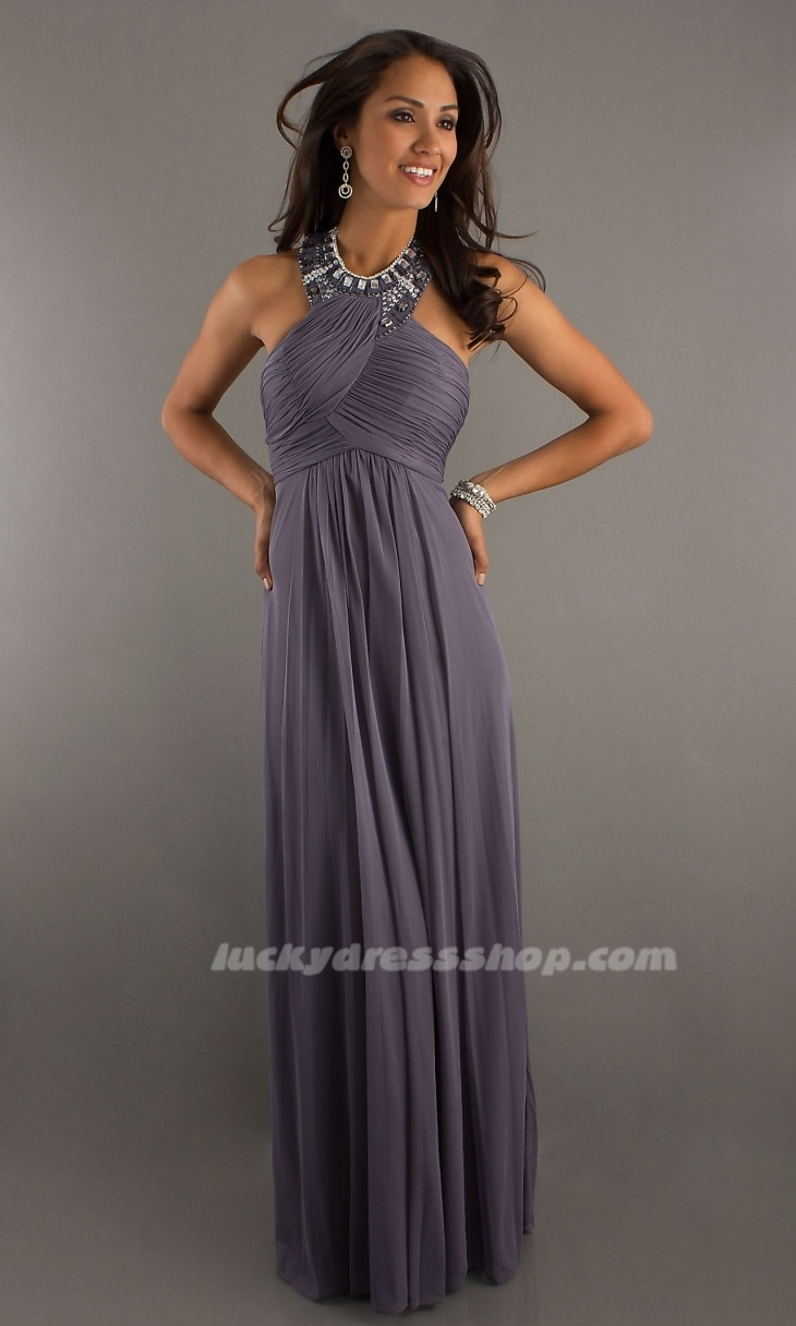 High Neck Halter Evening Gown By Morgan GREAT Idea For Bridesmaid Dress But Its The Wrong Color My Thoughts