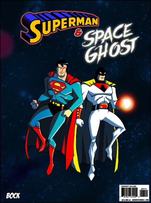 Superman and Space Ghost   - by Mick Bock