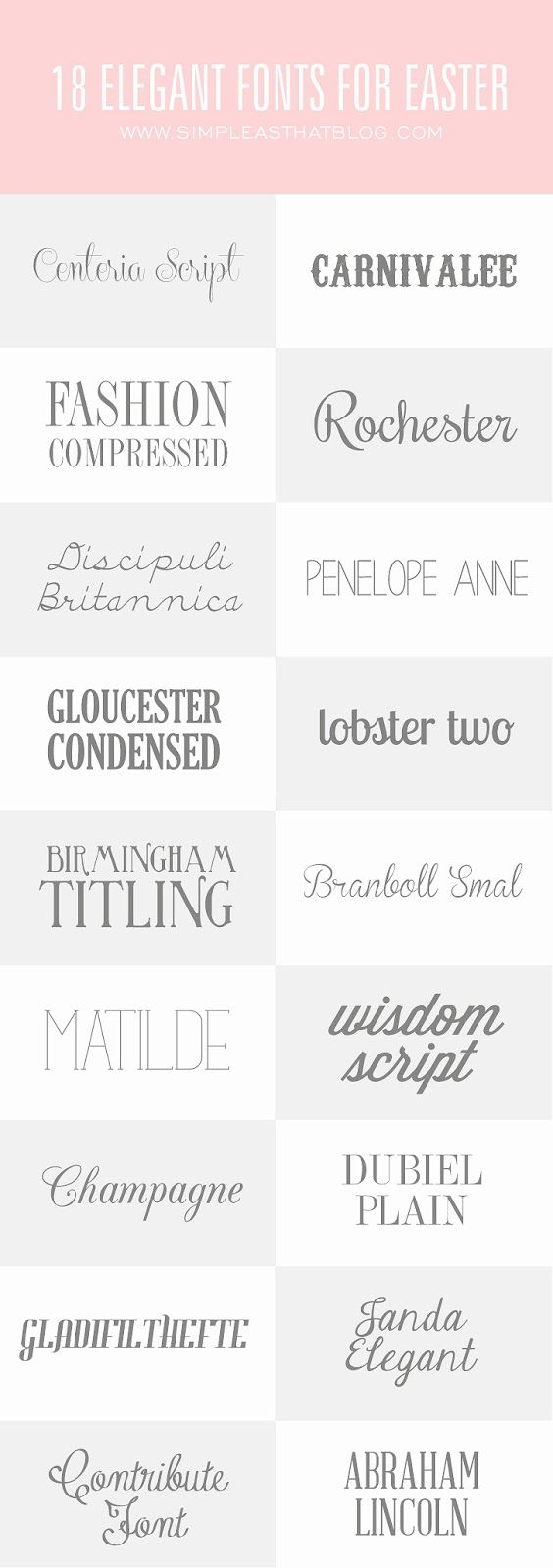 18 Elegant Fonts for Easter | Simple as That