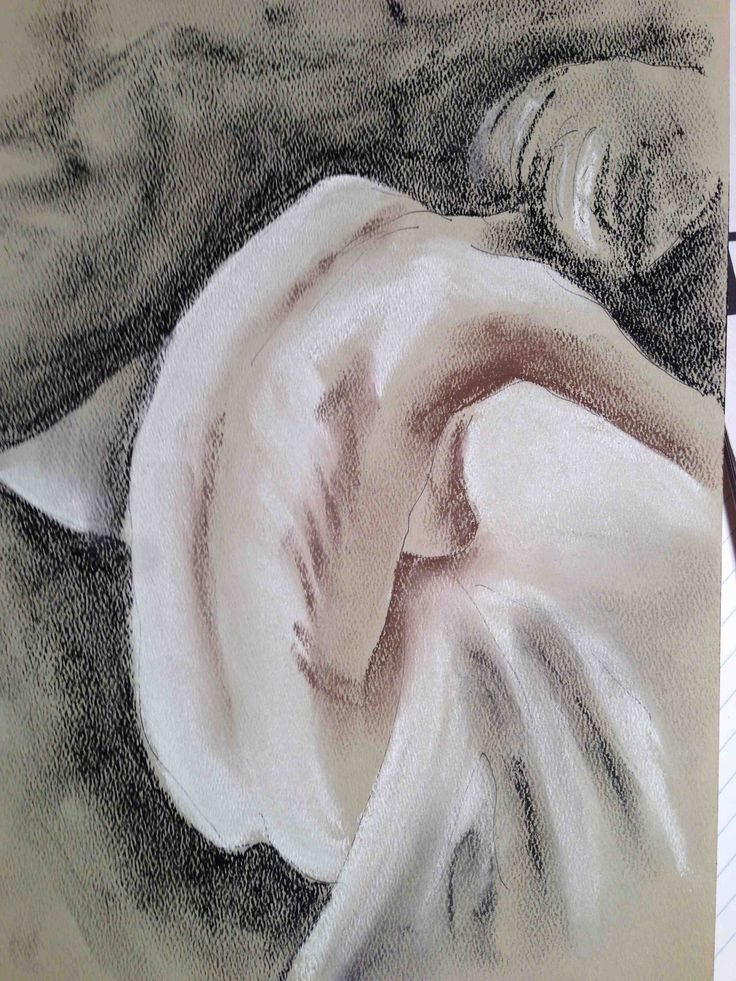 """Despair"" Phillip Waters pen,pastel on paper"