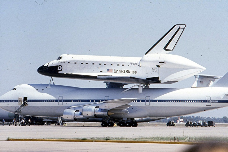 Space shuttle Discovery at Altus Air Force Base, Altus, Oklahoma circa 1981.Oklahoma O' K, Sweets Oklahoma, Oklahoma Circa