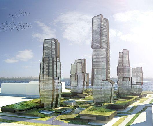 Yongjia World Trade Centre,Courtesy of UNStudio
