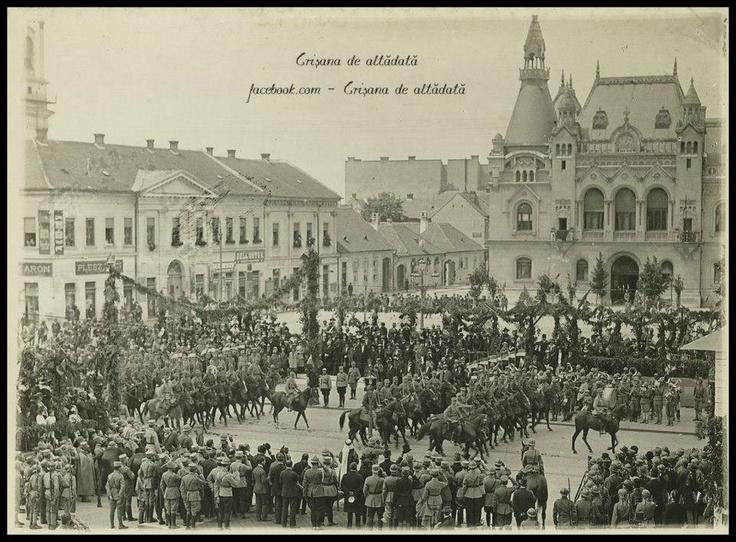 Oradea - Regele Ferdinand I şi Regina Maria - 1919