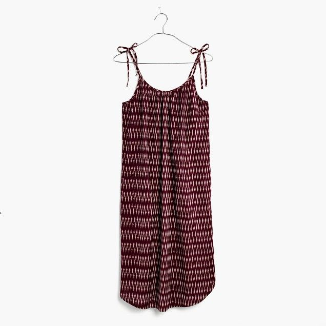 Tie-Strap Dress in Ikat Print