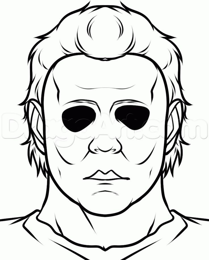 How To Draw Michael Myers Easy Step 7 Michael Myers Drawing