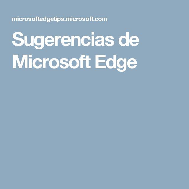 Sugerencias de Microsoft Edge