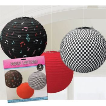 Incorporate these 1950's paper lanterns into your 50's sock hop party decor.