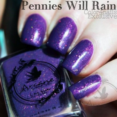 Arcane Lacquer : Arcane Lacquer Pennies Will Rain - C4N Exclusive Shop here- www.color4nails.com Worldwide shipping available