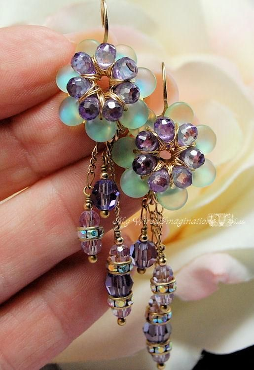 Fanciful Flowers - Freesia Earrings