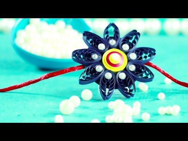 Amazing Rakhi Making Idea with Paper Quilling and Silk Thread