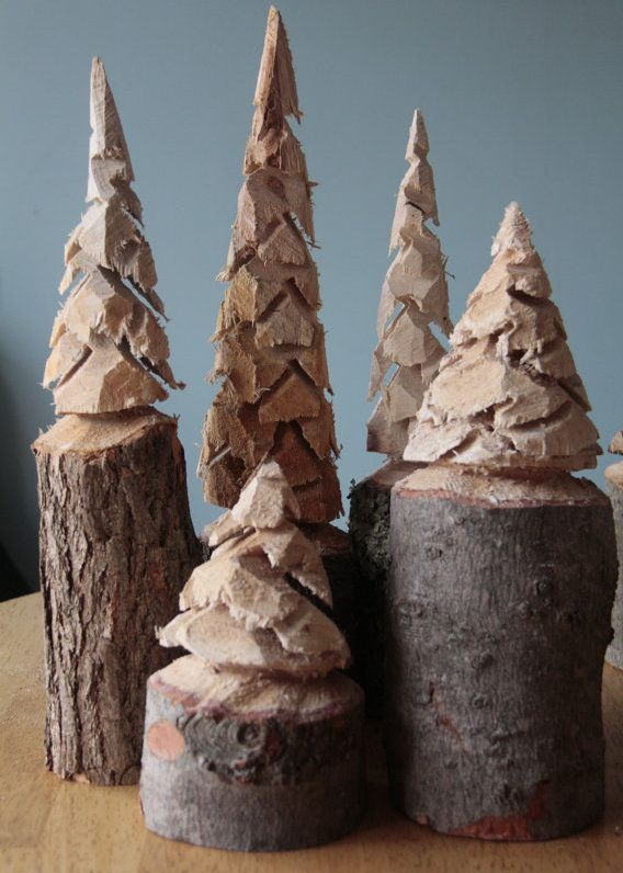 Very Cool Nordic Thoughts Chainsaw carved pine trees