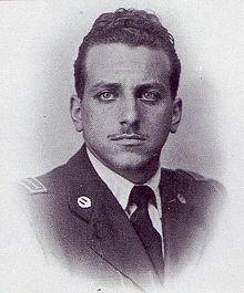 Il sottotenente Valerio Stefanini che fu ucciso a tradimento dai partigiani con una raffica alla schiena insieme a Visconti