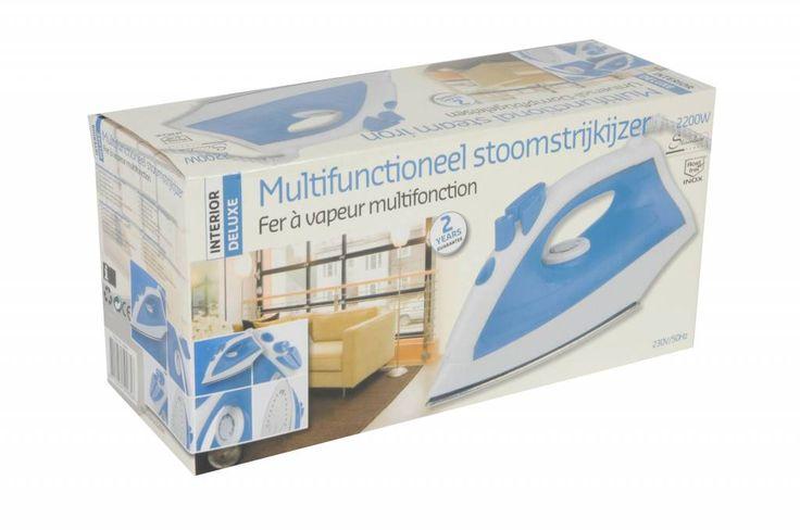 Multifunctioneel Stoomstrijkijzer met RVS zool (2200W) #stoomstrijkijzer #strijkbout #huishoudelijk